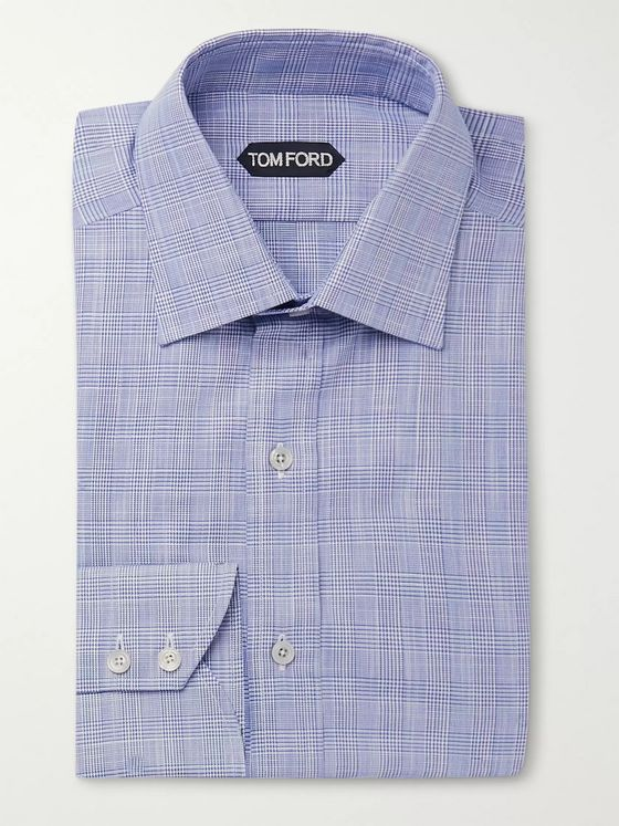 TOM FORD Slim-Fit Prince of Wales Checked Shirt