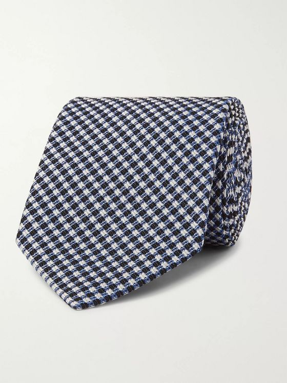 TOM FORD 7cm Checked Silk-Blend Jacquard Tie