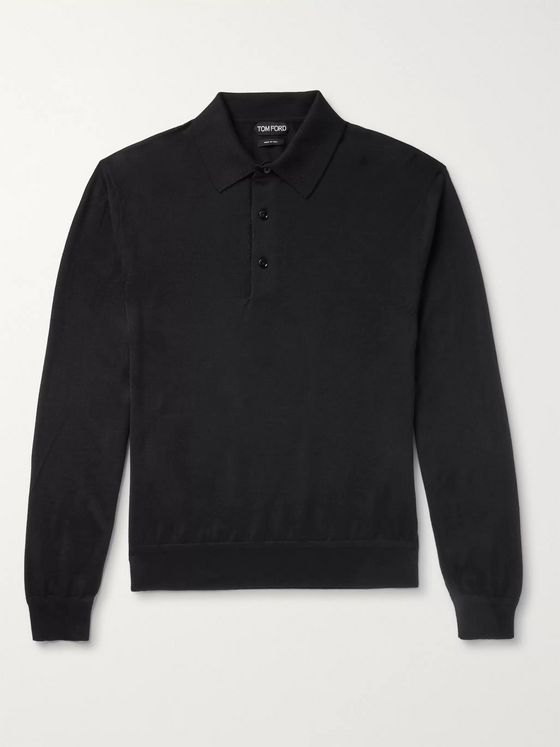 TOM FORD Cashmere and Silk-Blend Polo Shirt