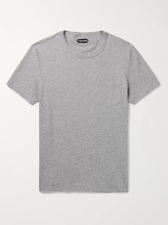 TOM FORD Melangé Cotton-Jersey T-Shirt