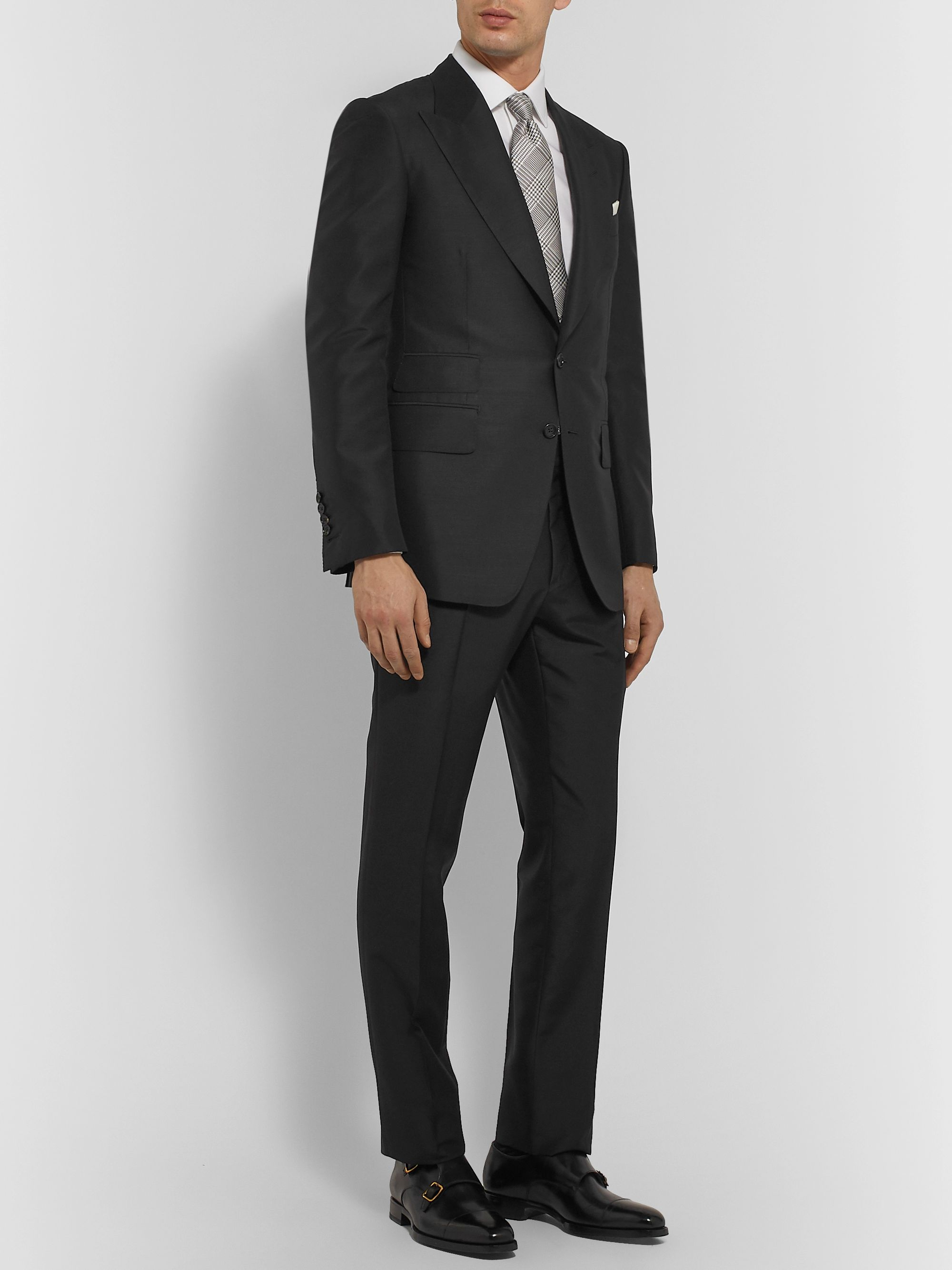 TOM FORD Shelton Mohair and Silk-Blend Suit Jacket