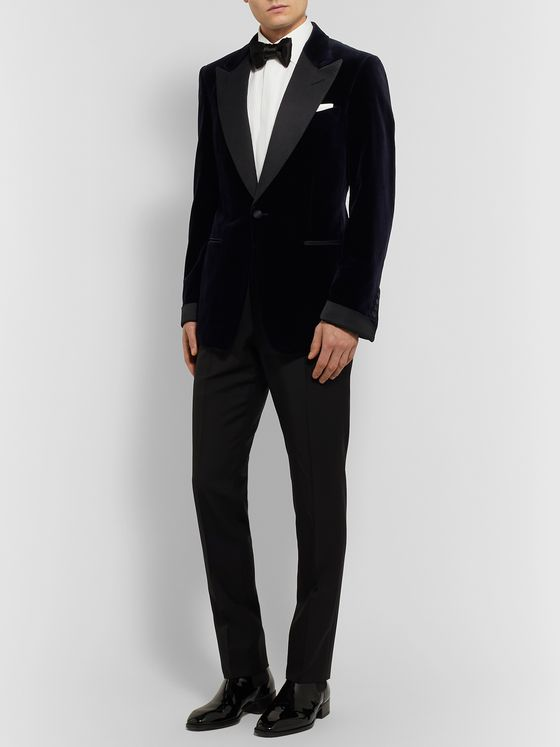 TOM FORD Shelton Slim-Fit Cotton-Velvet Tuxedo Jacket