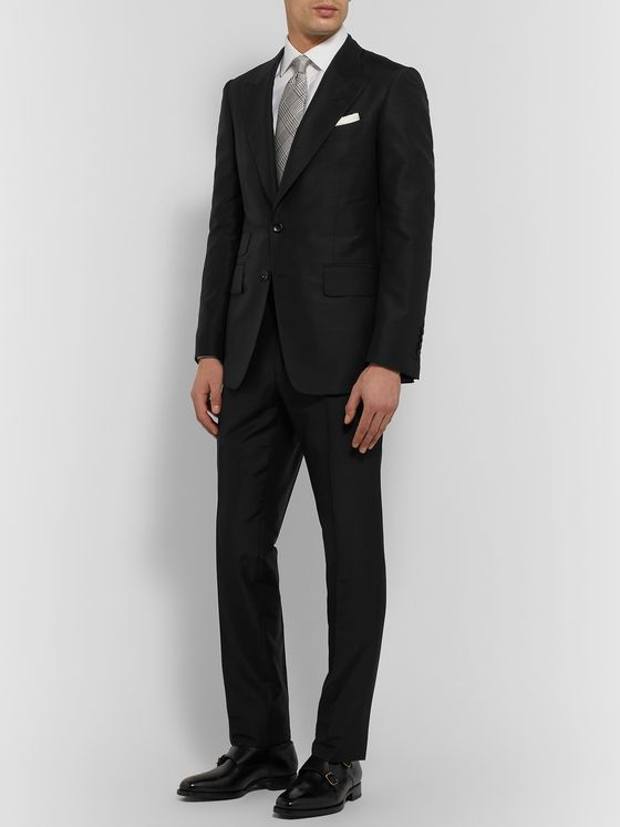 TOM FORD Mohair and Silk-Blend Suit Trousers