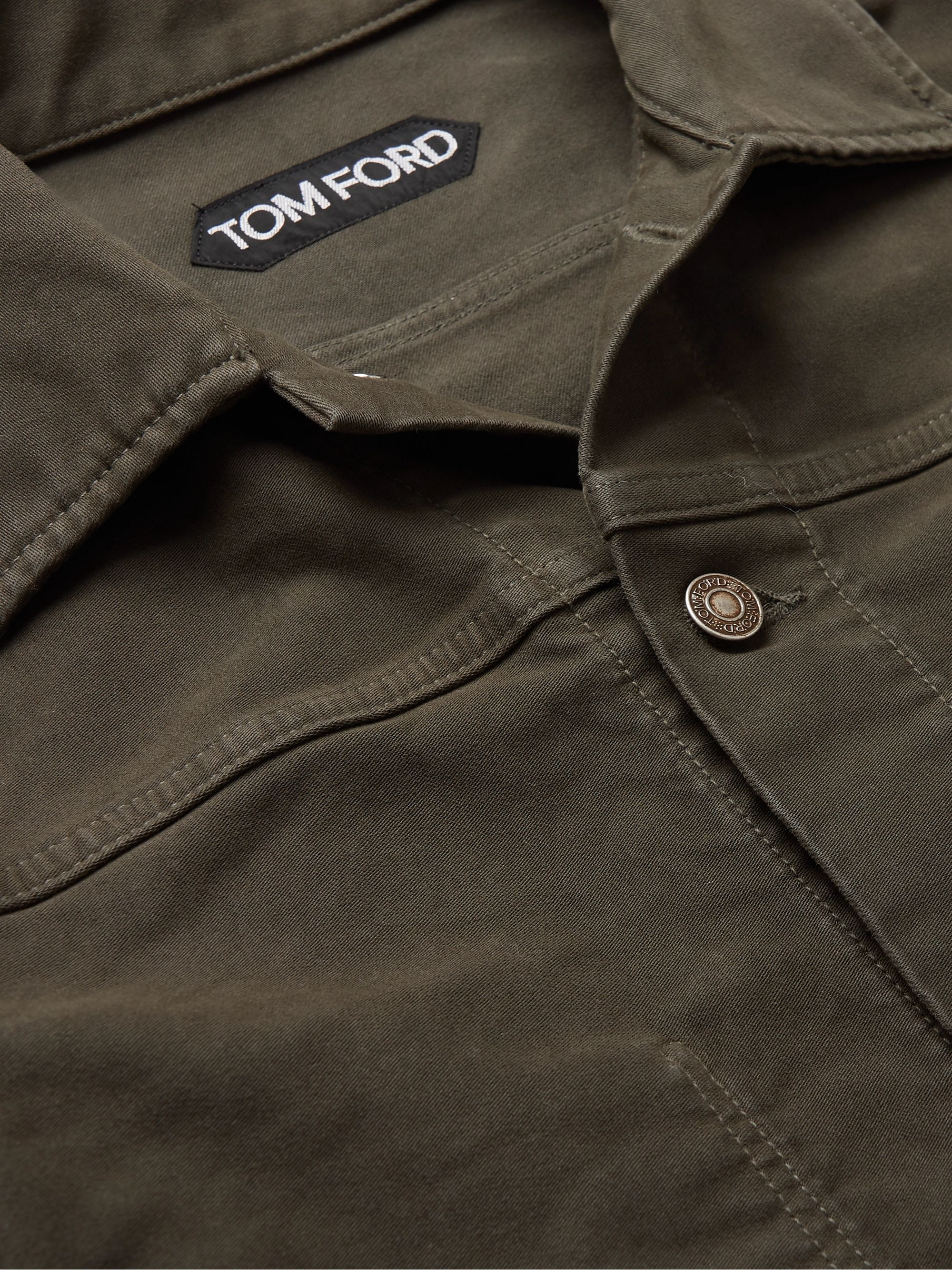 Army Green Cotton-moleskin Trucker Jacket | Tom Ford