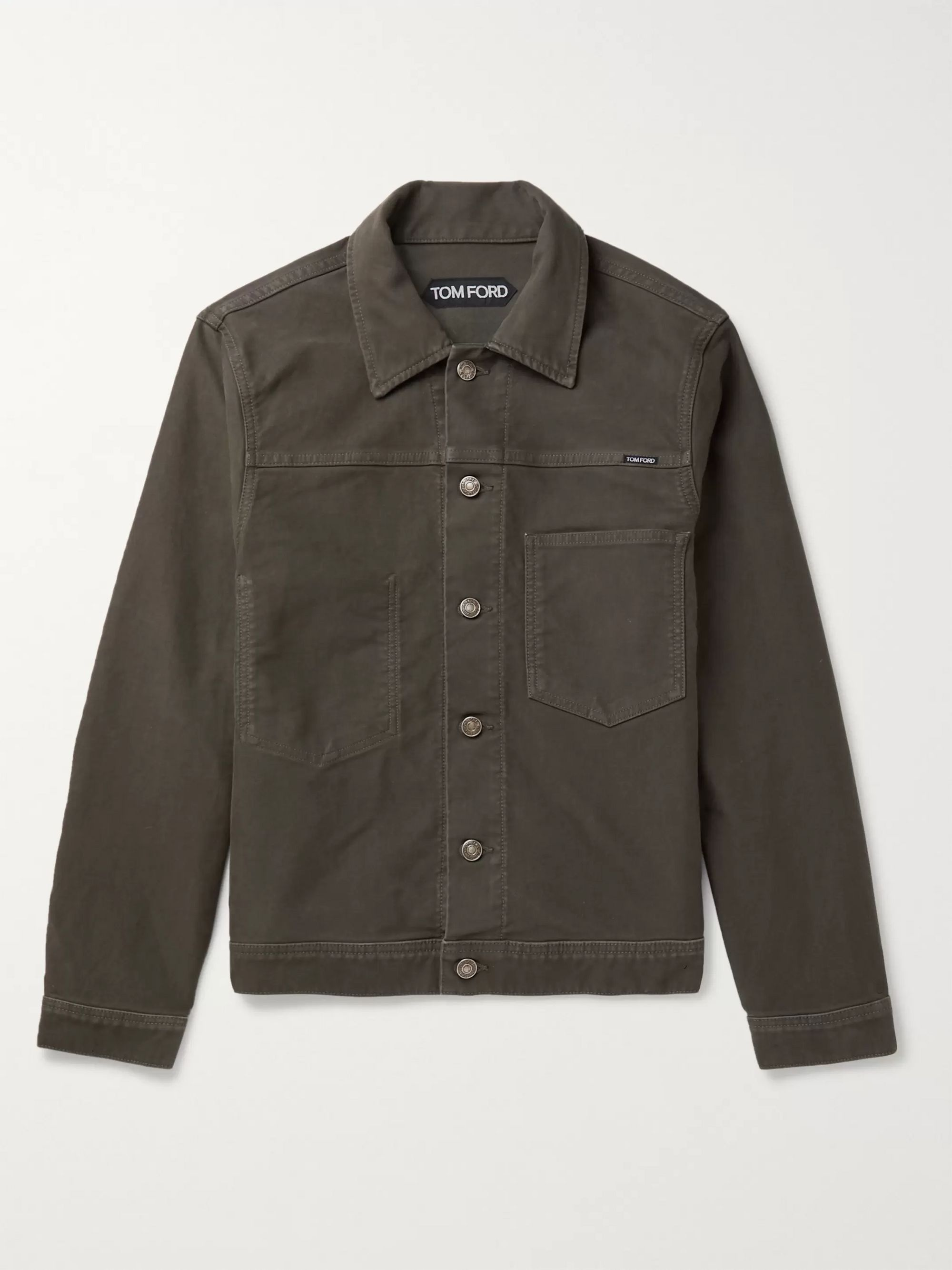 TOM FORD Cotton-Moleskin Trucker Jacket