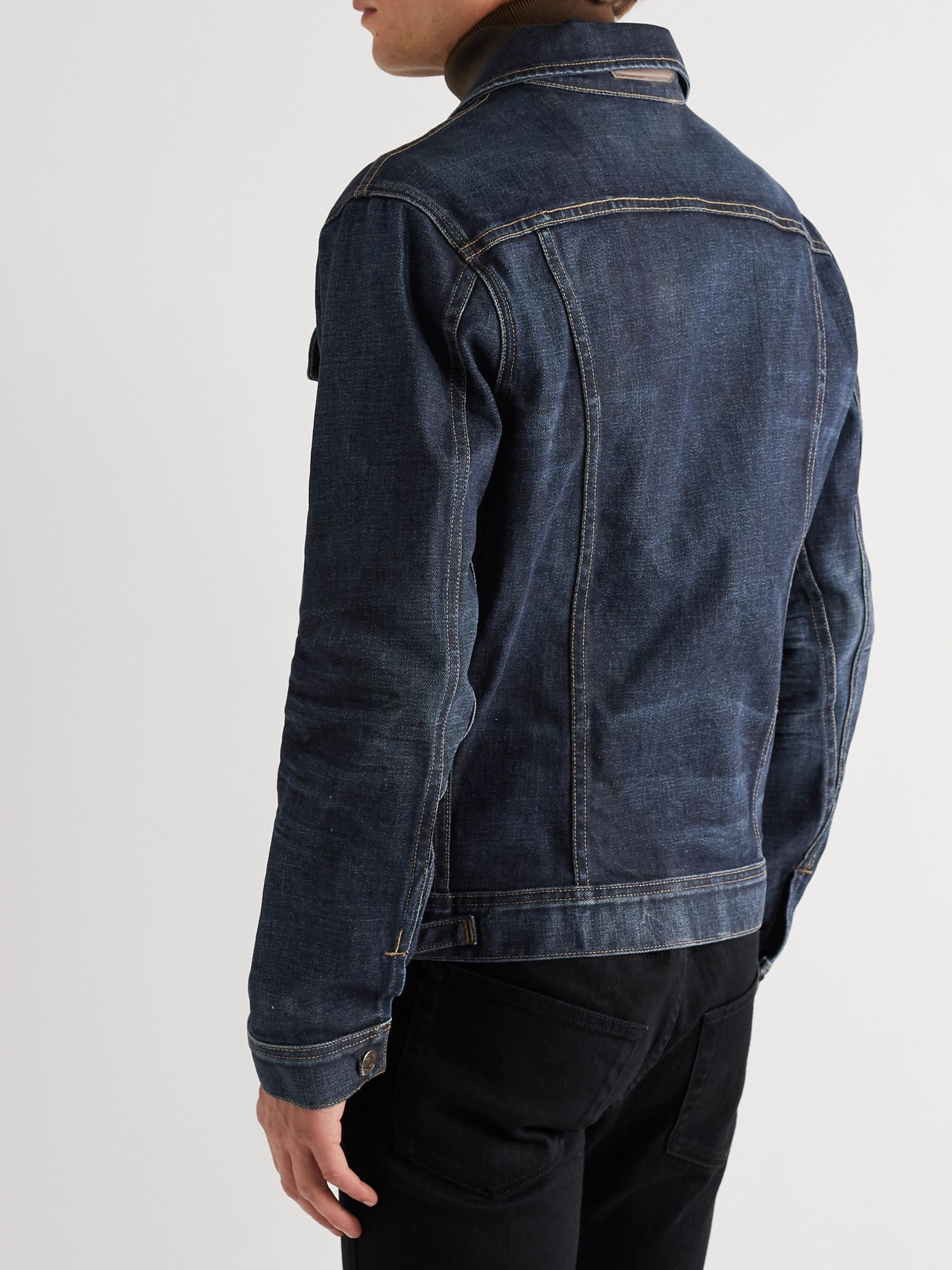 TOM FORD Washed-Denim Trucker Jacket