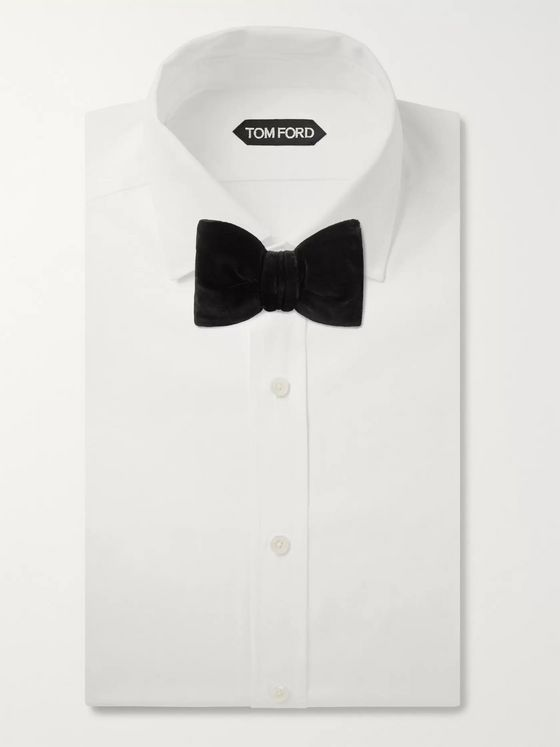 TOM FORD Pre-Tied Cotton-Velvet Bow Tie