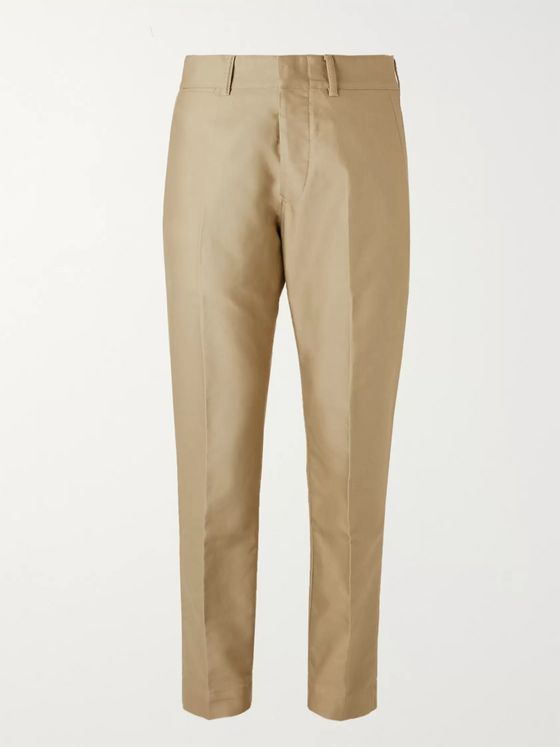 TOM FORD Cotton-Sateen Trousers