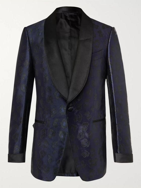 TOM FORD Shelton Leopard-Jacquard Tuxedo Jacket