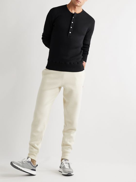 TOM FORD Slim-Fit Ribbed Cotton-Jersey Henley T-Shirt