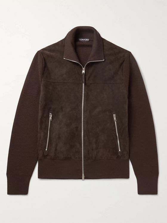 TOM FORD Wool-Lined Suede Jacket