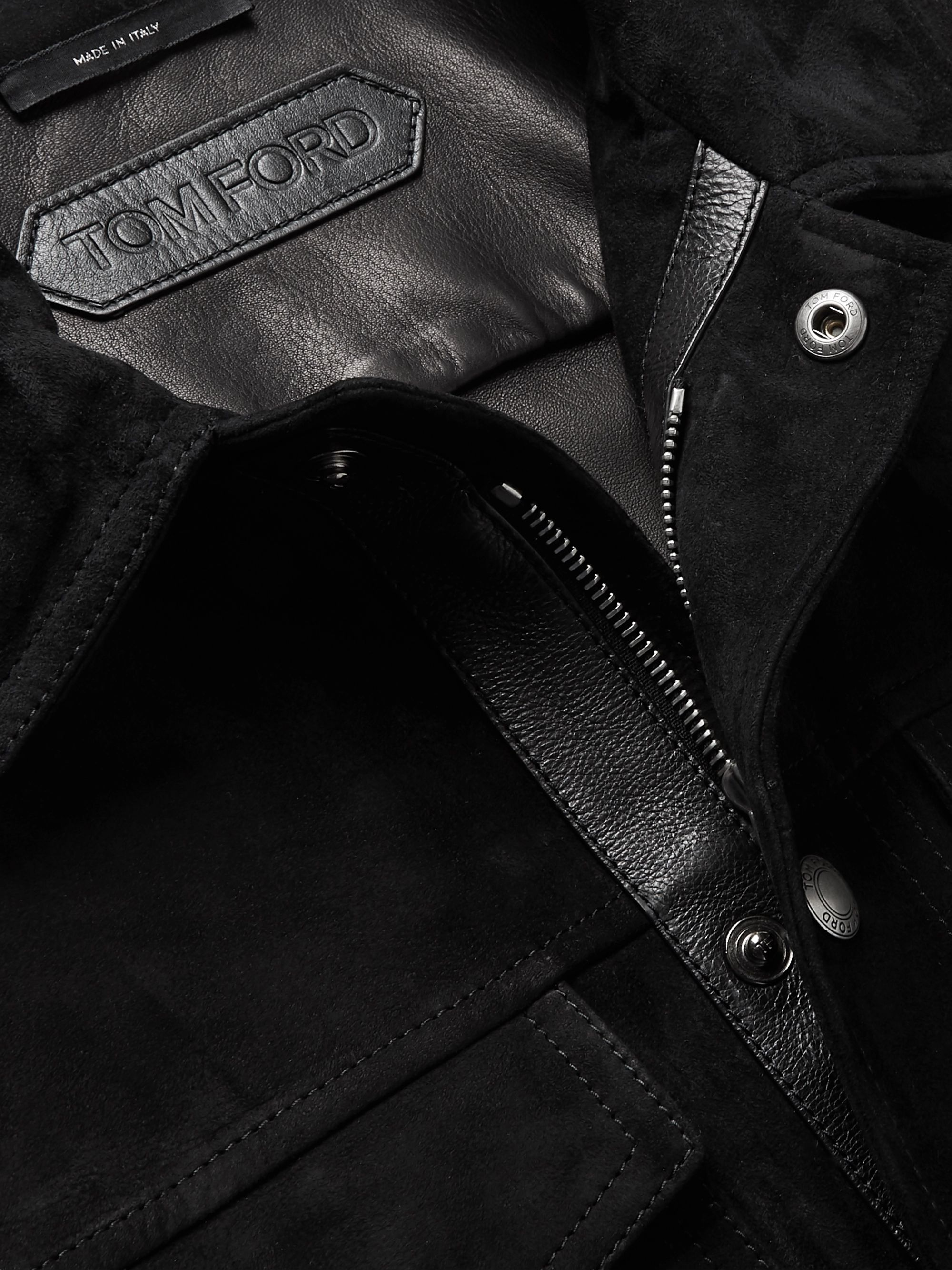Black Suede Shirt Jacket | Tom Ford