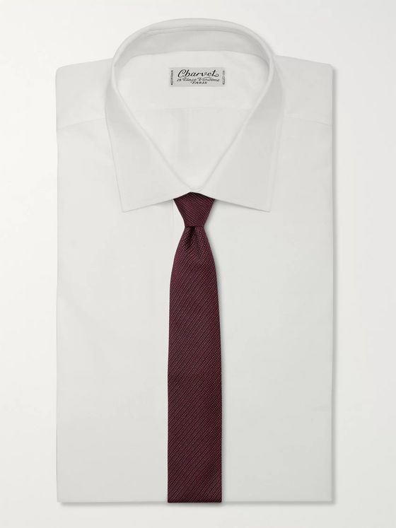 TOM FORD 7cm Striped Silk-Blend Jacquard Tie