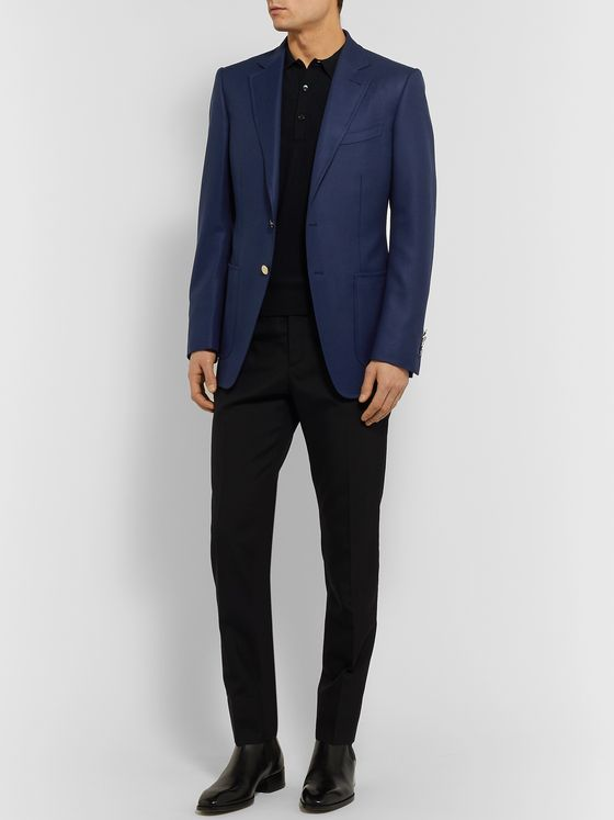 TOM FORD O'Connor Slim-Fit Wool and Mohair-Blend Blazer
