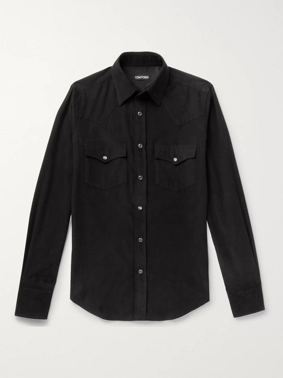 TOM FORD Cotton-Corduroy Western Shirt