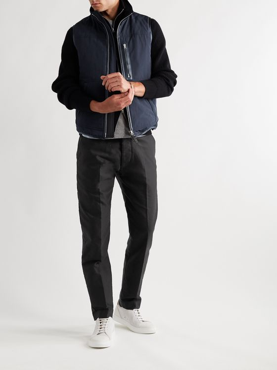 TOM FORD Tapered Cotton-Sateen Trousers