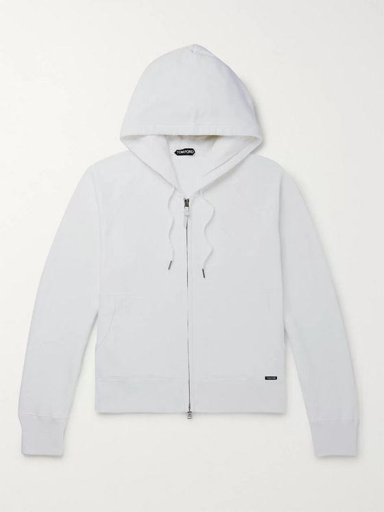 TOM FORD Fleece-Back Cotton-Jersey Zip-Up Hoodie