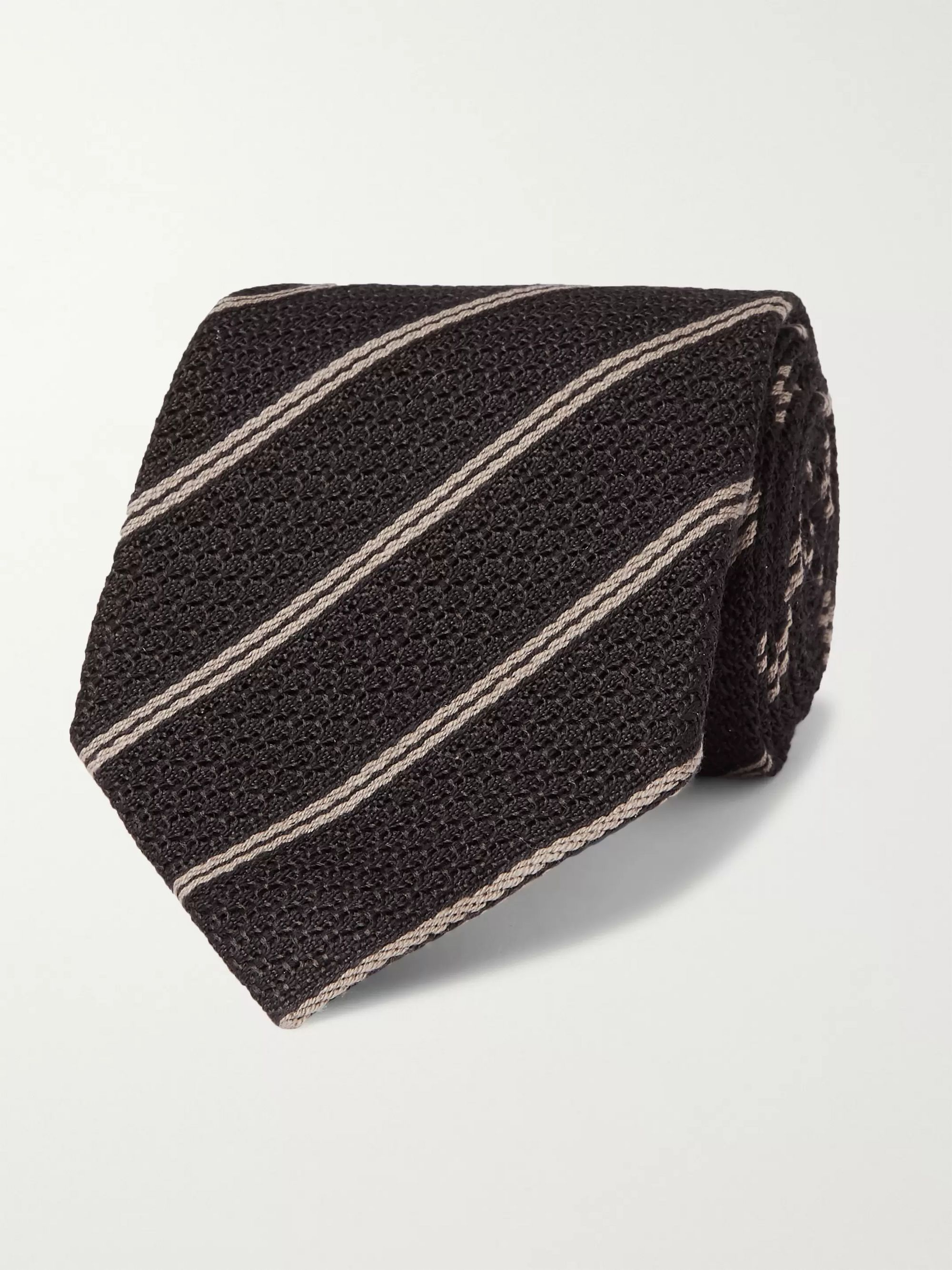 TOM FORD 8cm Striped Silk and Wool-Blend Jacquard Tie