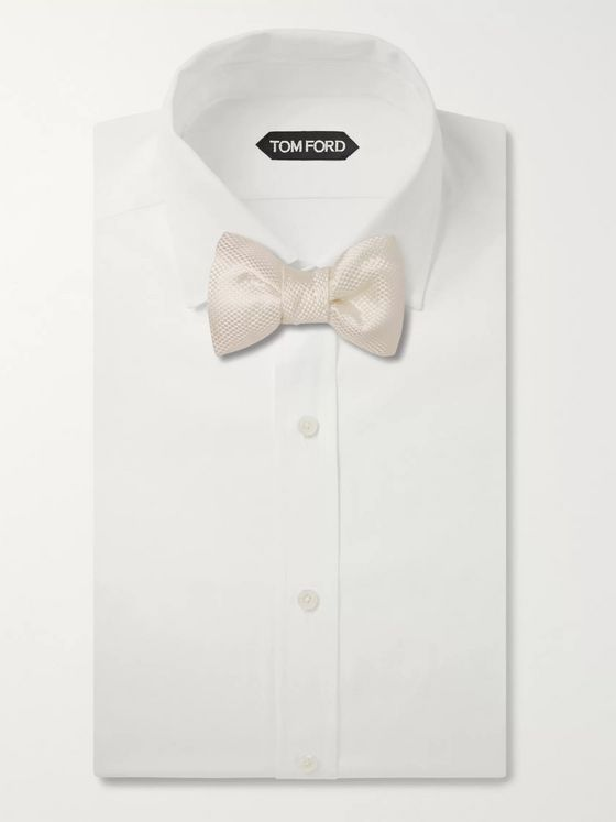 TOM FORD Pre-Tied Textured Silk-Jacquard Bow Tie