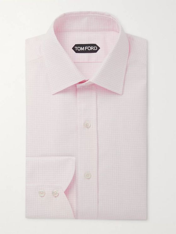 TOM FORD Slim-Fit Checked Cotton Shirt