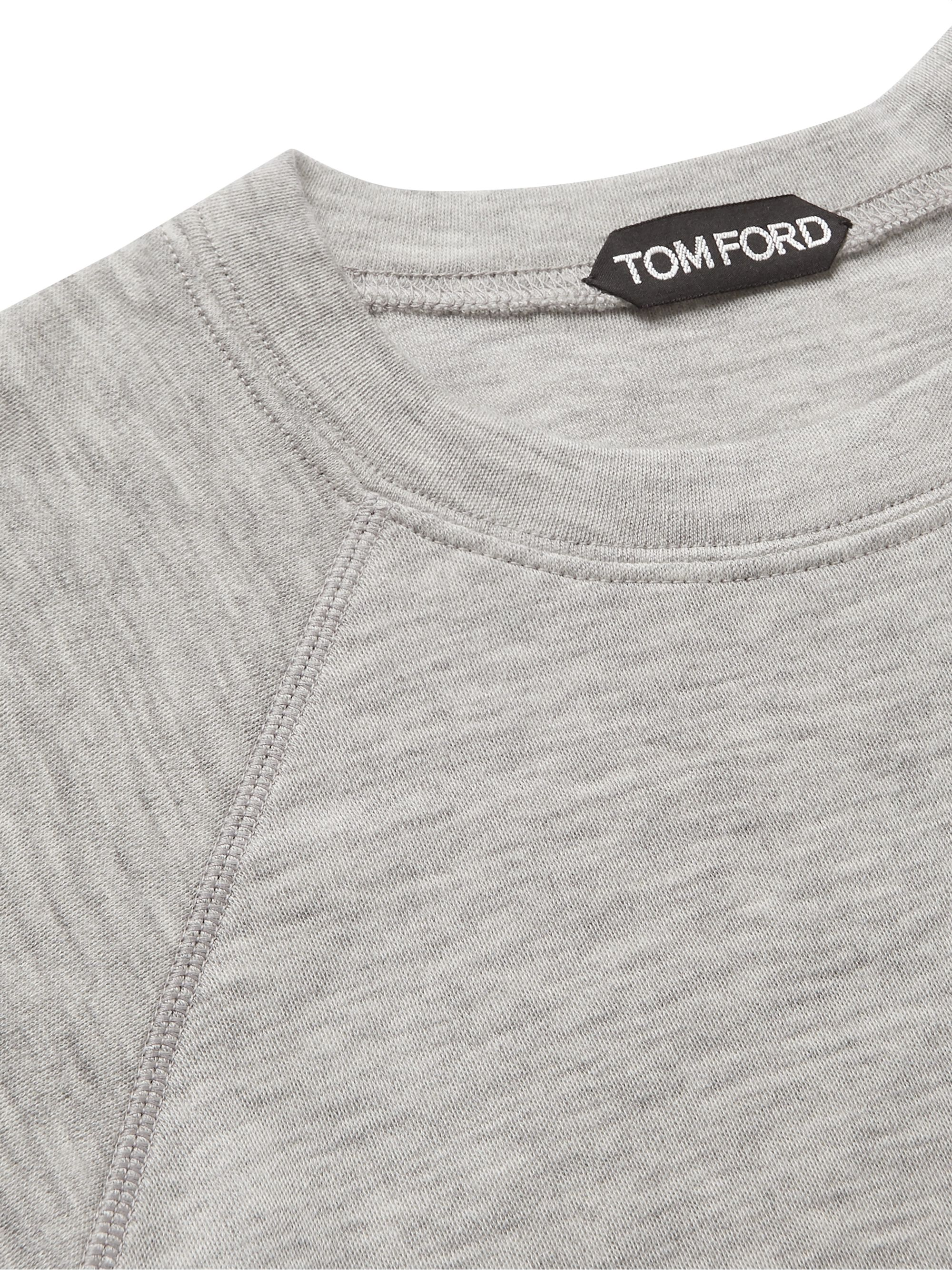 TOM FORD Mélange Cashmere-Jersey Sweater