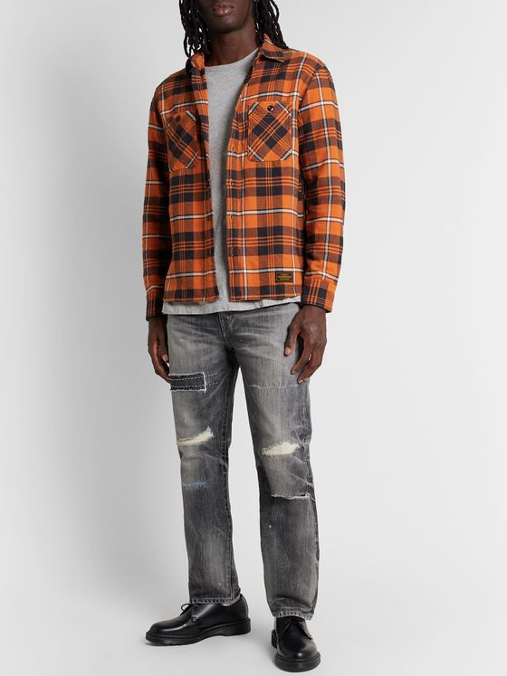 Neighborhood Checked Cotton-Flannel Shirt