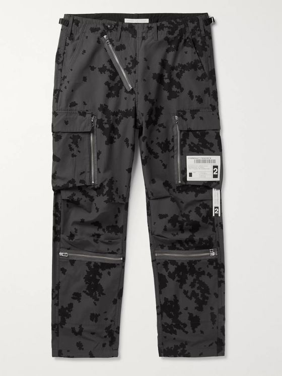 NEIGHBORHOOD Embellished Printed Cotton-Ripstop Cargo Trousers