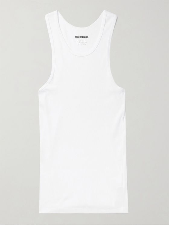 Neighborhood Three-Pack Ribbed Cotton-Jersey Tank Tops