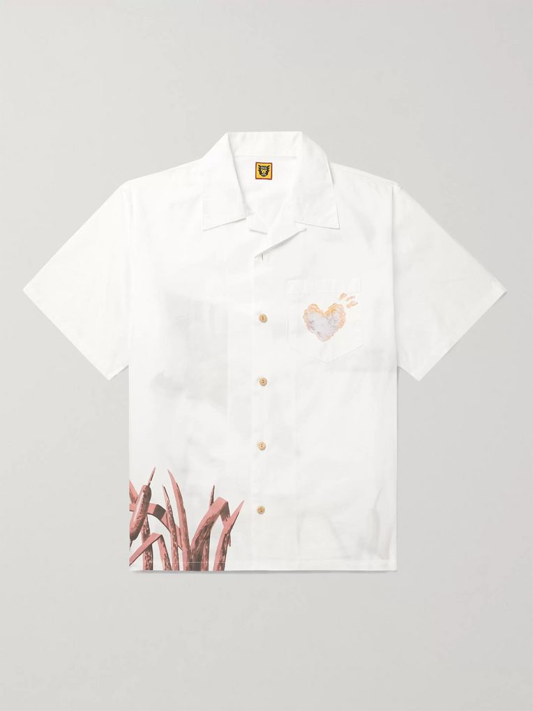 Human Made Camp-Collar Printed Cotton Shirt