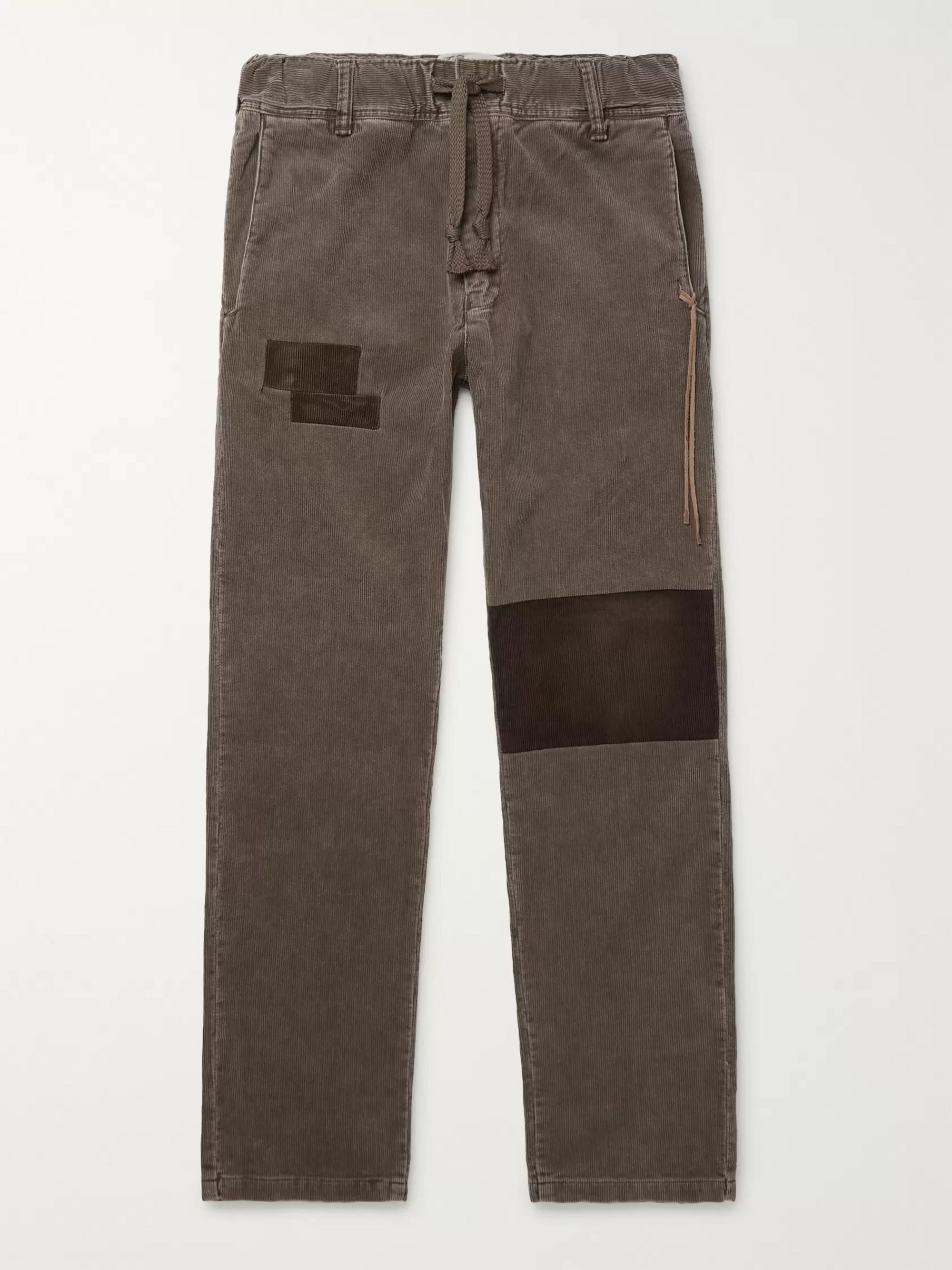 Patchwork Cotton Blend Corduroy Trousers by Remi Relief