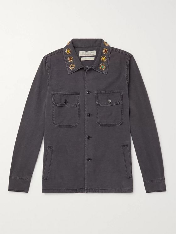 Remi Relief Embellished Denim Shirt