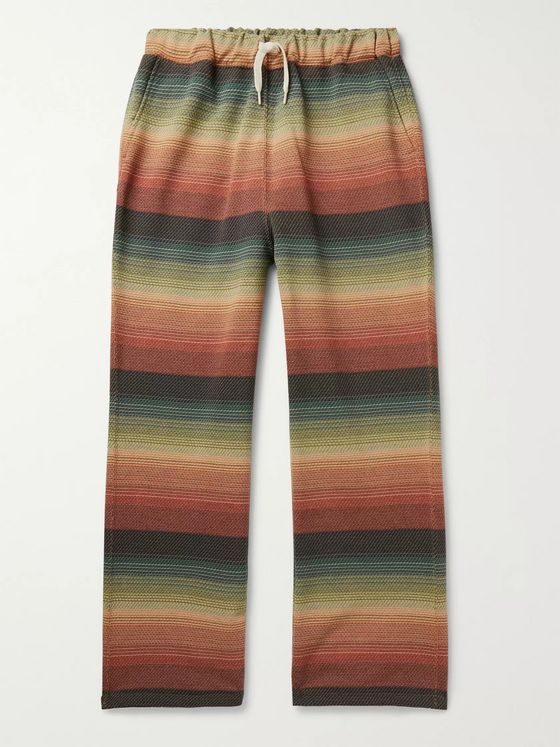 Remi Relief Striped Tech-Jersey Drawstring Trousers