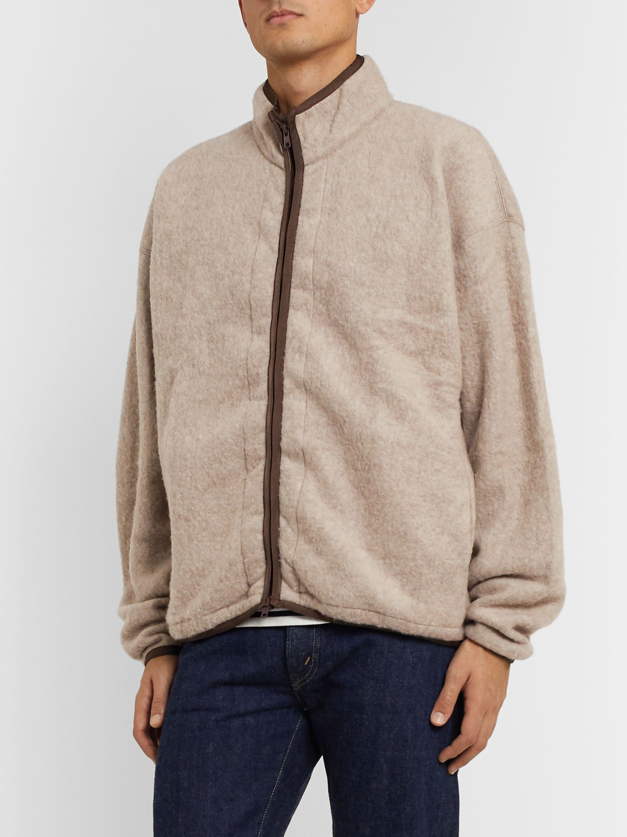 Remi Relief Wool-Blend Fleece Zip-Up Sweatshirt