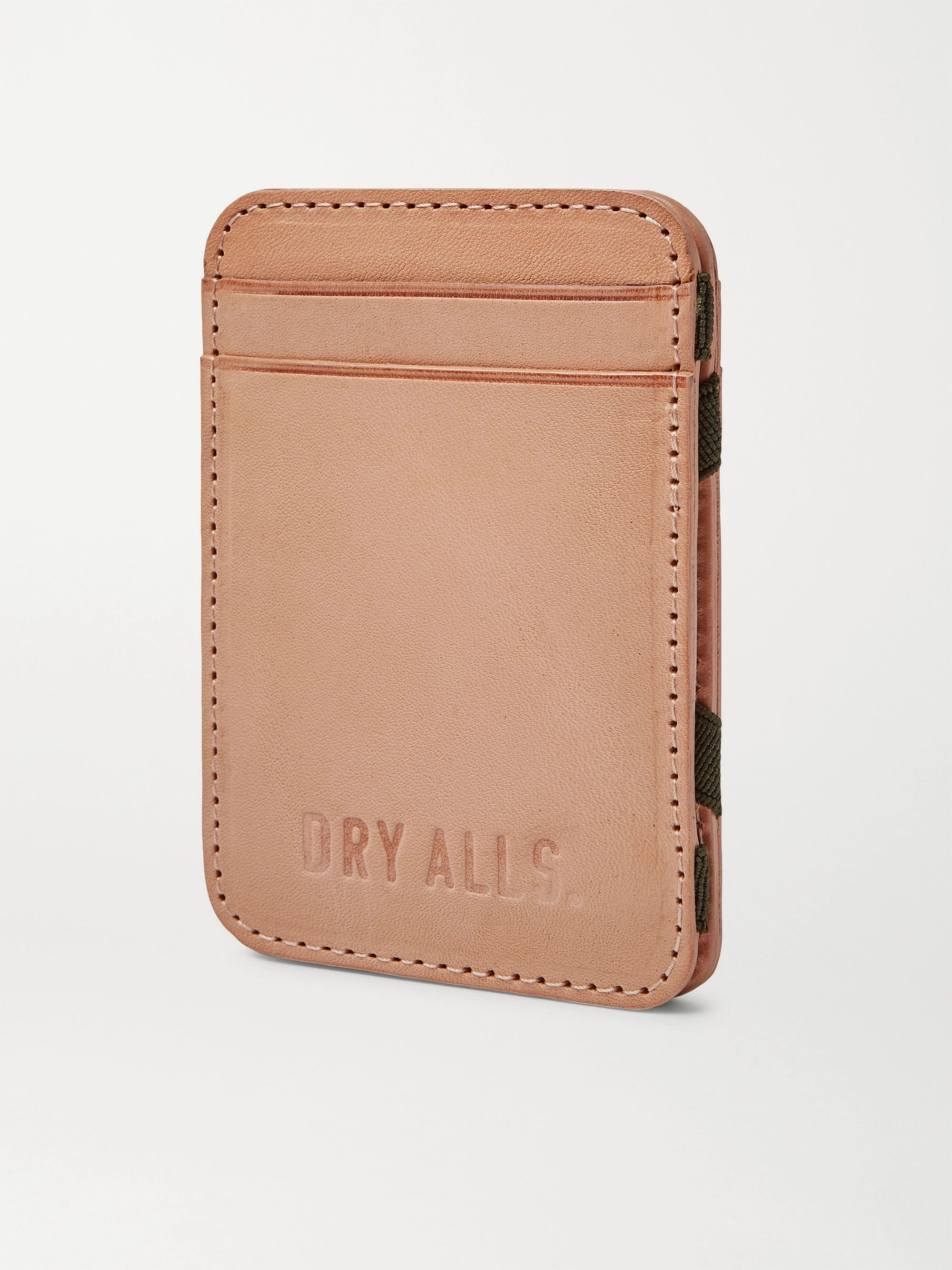 Human Made Debossed Leather Bifold Cardholder
