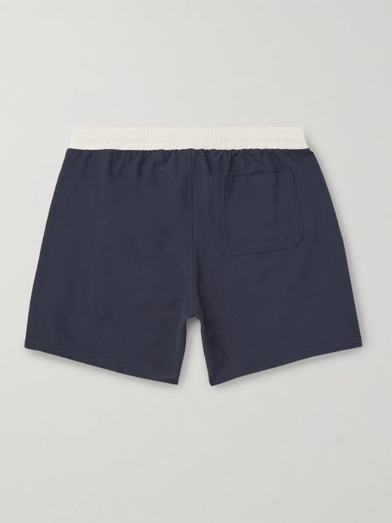 Brunello Cucinelli Mid-Length Logo-Print Swim Shorts
