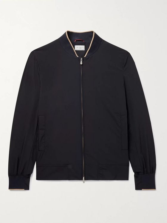 Brunello Cucinelli Stretch-Nylon Bomber Jacket