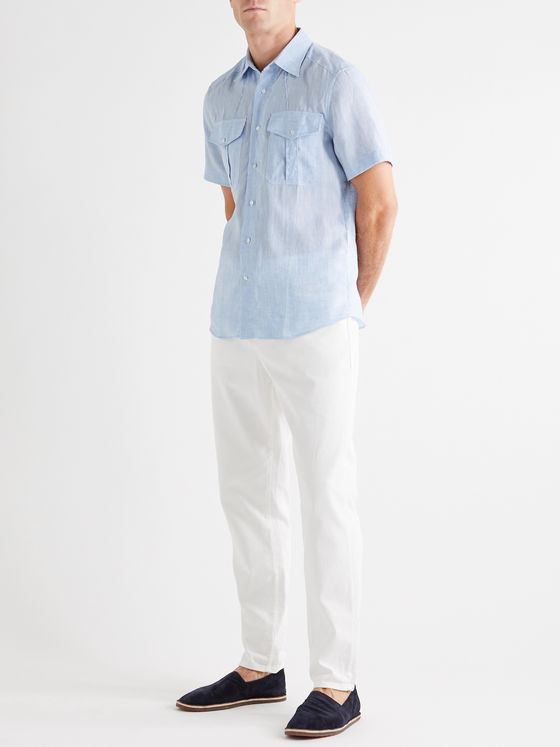 BRUNELLO CUCINELLI Slub Cotton Shirt