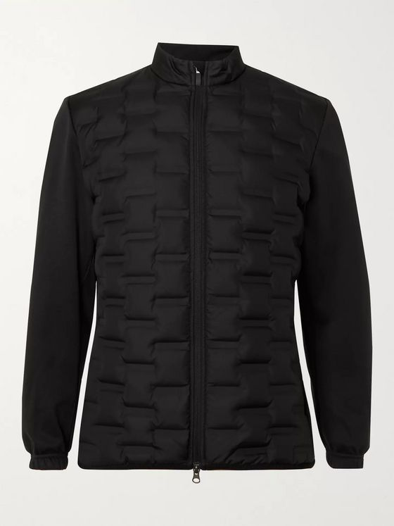 Nike Golf AeroLoft Repel Jersey-Trimmed Quilted Shell Down Golf Jacket
