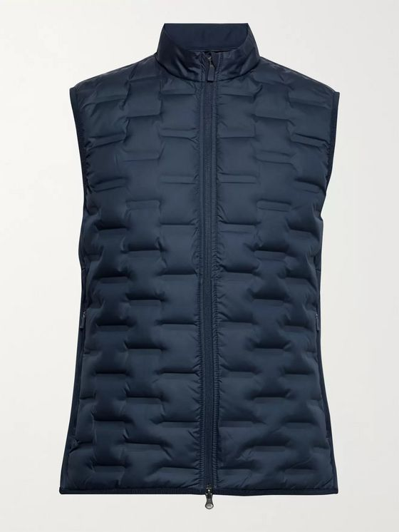 Nike Golf AeroLoft Repel Quilted Shell and Stretch-Jersey Down Golf Gilet