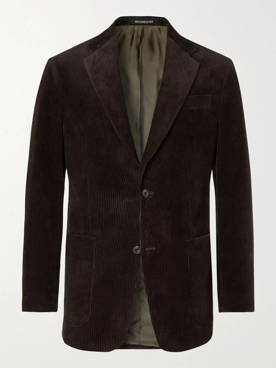 RICHARD JAMES Slim-Fit Cotton-Corduroy Blazer