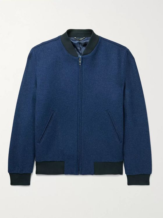 RICHARD JAMES Brushed-Wool Bomber Jacket