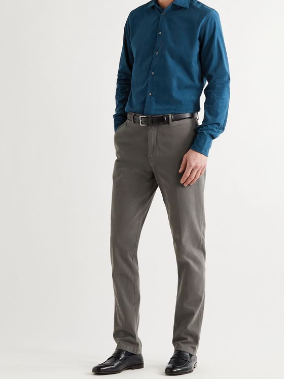 RICHARD JAMES Cotton-Chambray Shirt