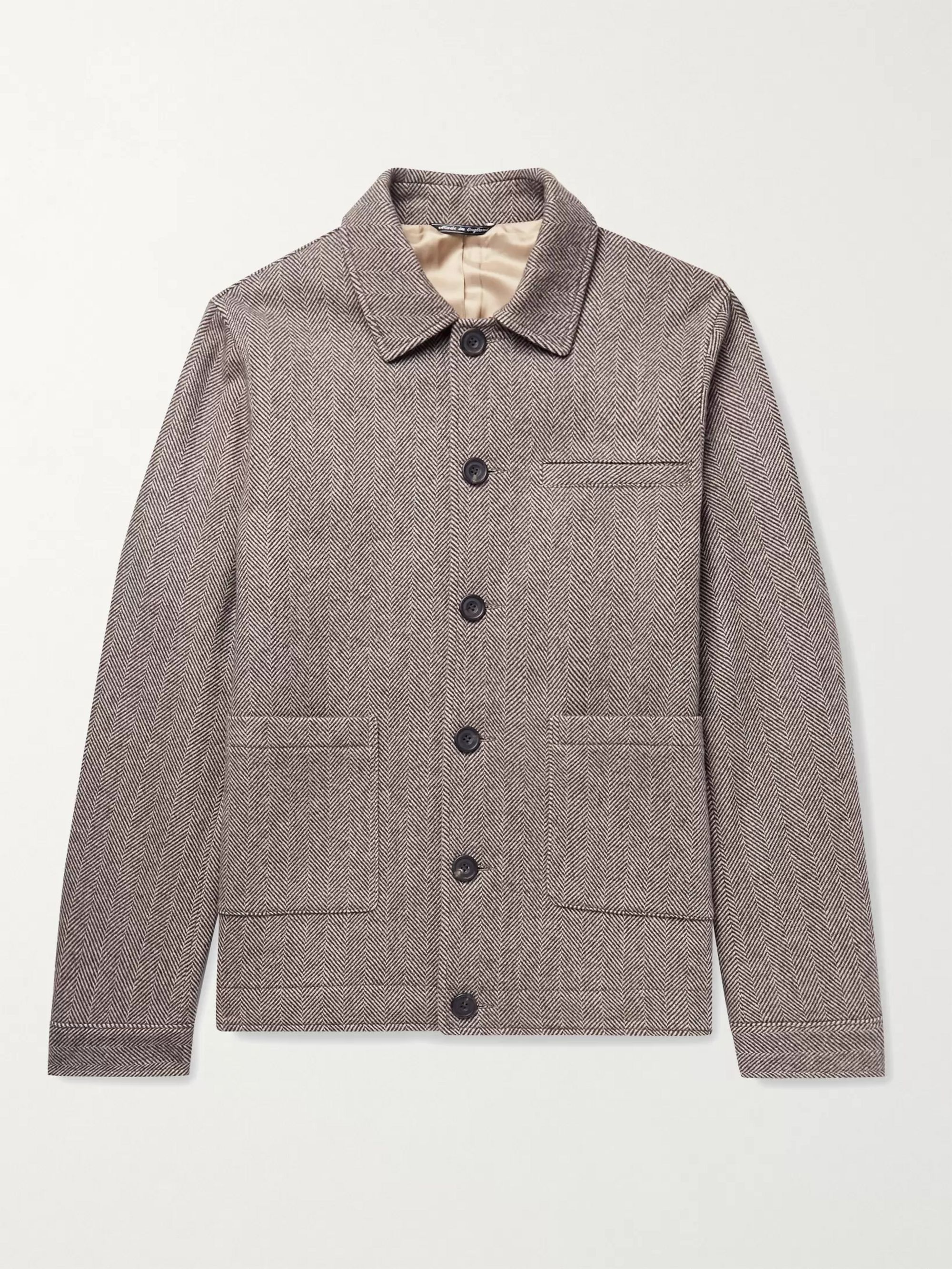RICHARD JAMES Herringbone Wool Jacket