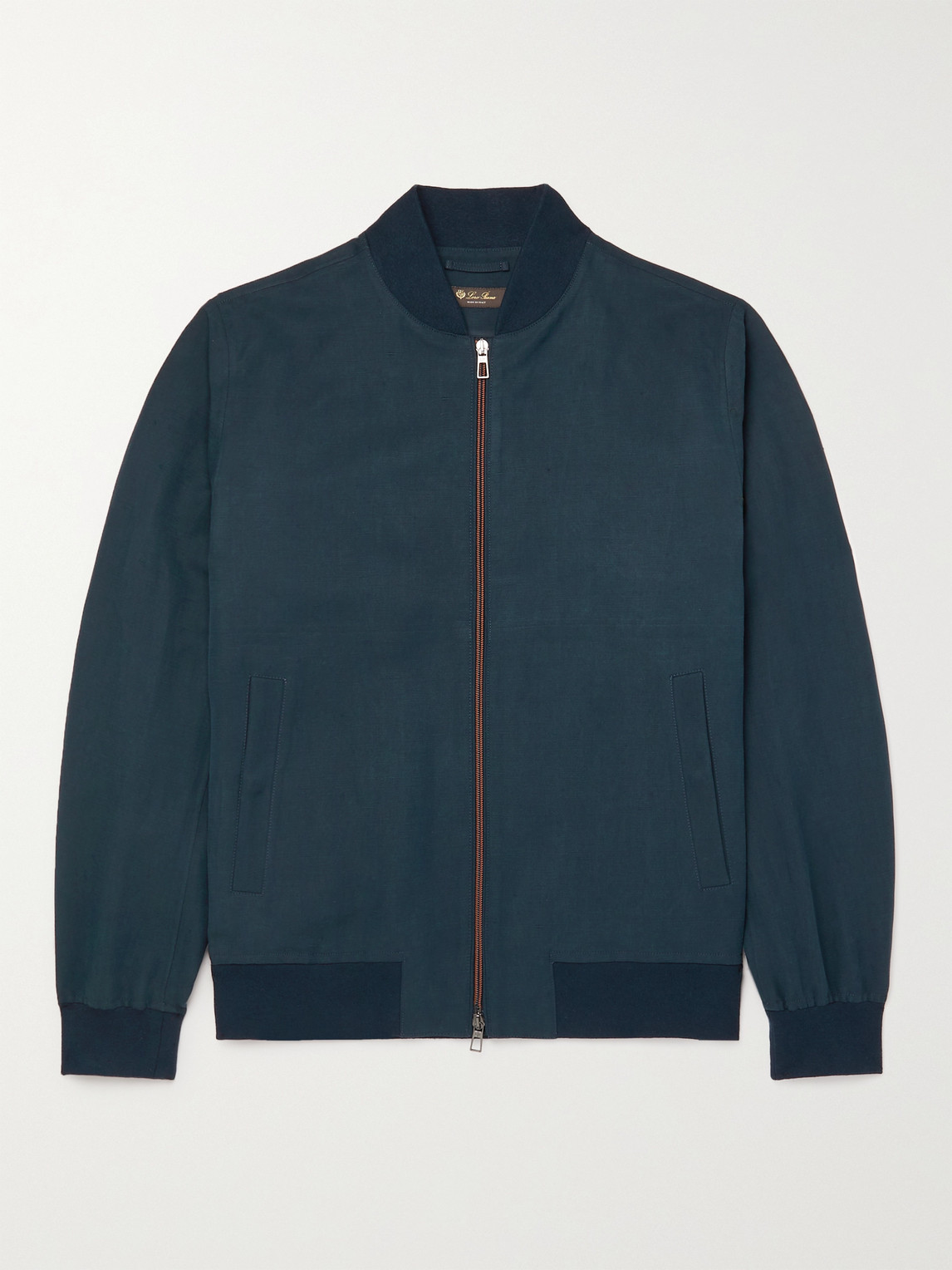 Loro Piana Clothing IVY LINEN AND SILK-BLEND BOMBER JACKET