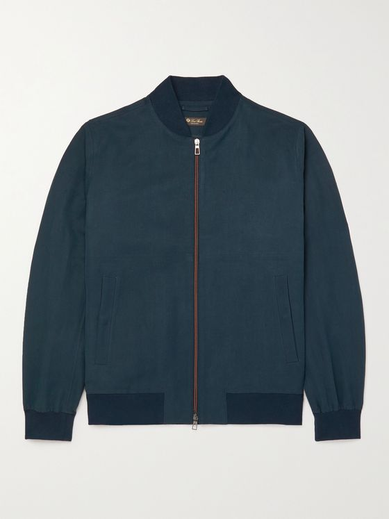 LORO PIANA Ivy Linen and Silk-Blend Bomber Jacket