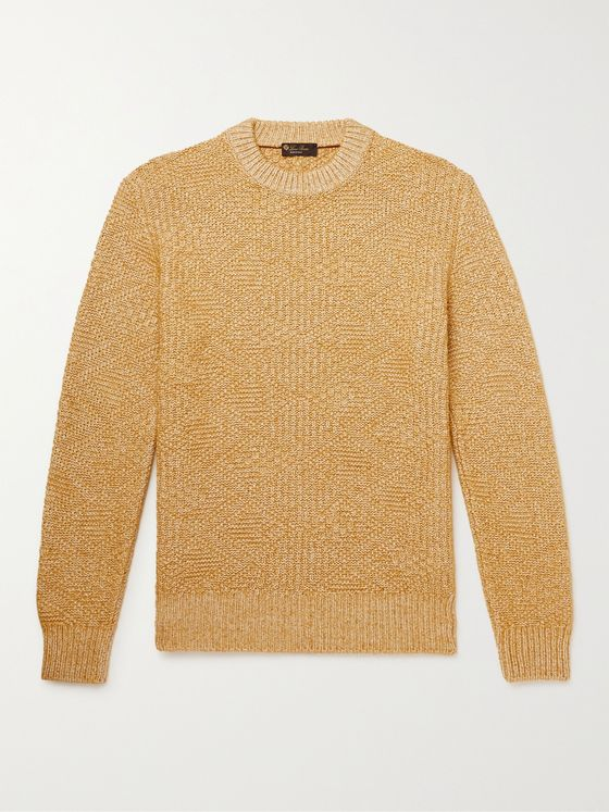 LORO PIANA Slim-Fit Cable-Knit Silk and Cashmere-Blend Sweater