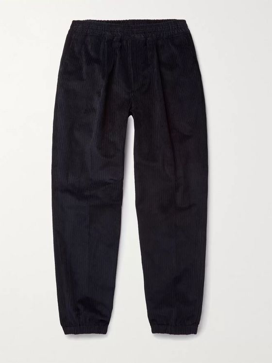 LORO PIANA Tapered Cotton-Blend Corduroy Trousers