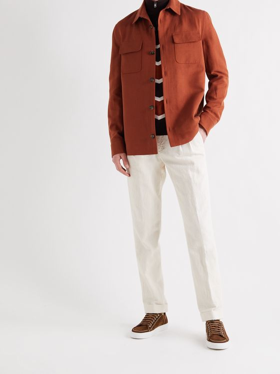LORO PIANA Rain System Linen and Silk-Blend Jacket