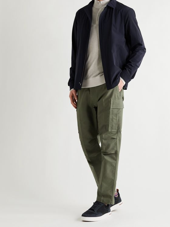 LORO PIANA Stretch-Shell Bomber Jacket