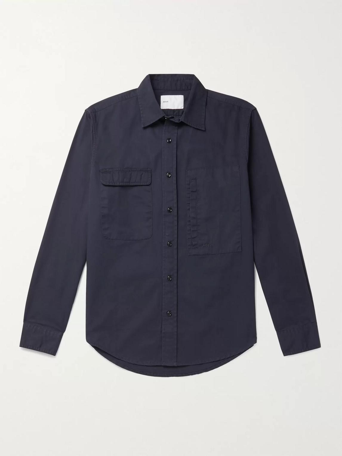 Adsum Cotton-twill Shirt In Blue